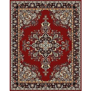 Klassiek vloerkleed met medaillon bordeaux