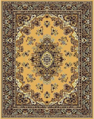 Klassiek vloerkleed medaillon berber