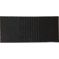 Droogloopmat 3 in 1, zwart