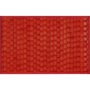 Bamboe placemat met structuur, rood