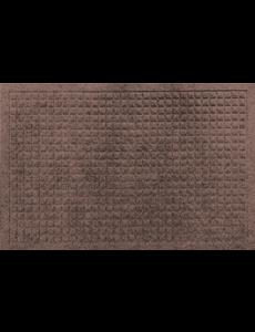 Schrapende naaldvilt deurmat vierkanten bruin