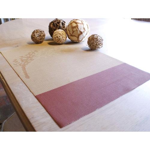 Set van 6 stuks placemats, dessin in roesttinten