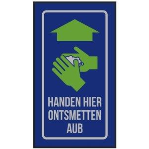 Professionele COVID droogloopmat voor binnen, handen wassen