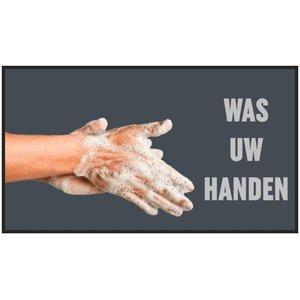 Professionele COVID droogloopmat voor binnen, was uw handen