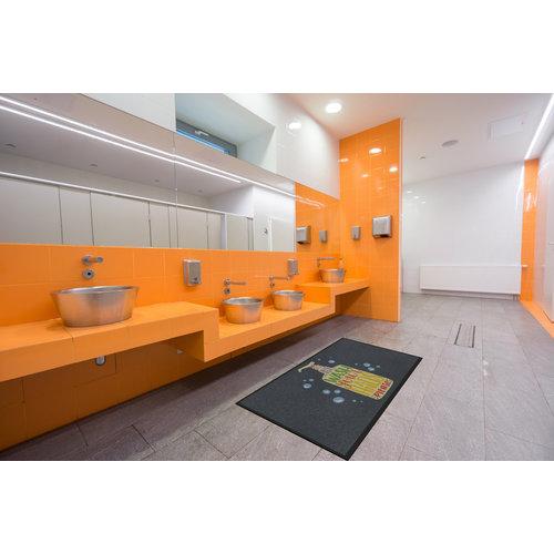Professionele COVID droogloopmat voor binnen, just wash your hands