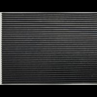 Rubberen loper op maat met fijne rib, 3mm