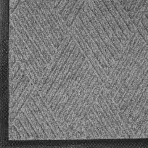 Professionele schrapende en absorberende mat met diamant patroon voor binnen, grijs