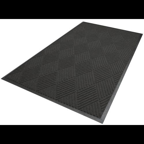 Professionele schrapende en absorberende mat met diamant patroon voor binnen, antraciet