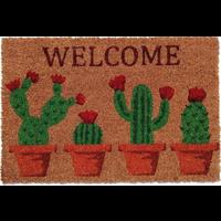 Kokosmat Welcome opdruk cactussen
