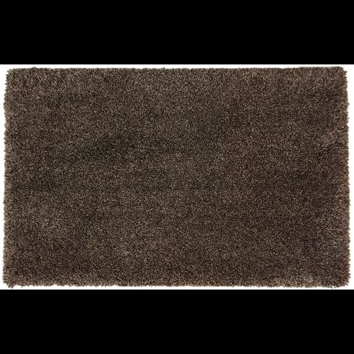 Hoogpolige badmat bruin
