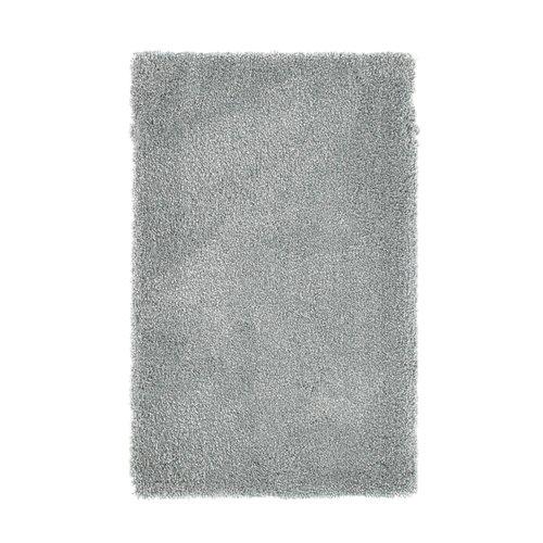 Hoogpolige badmat blauw
