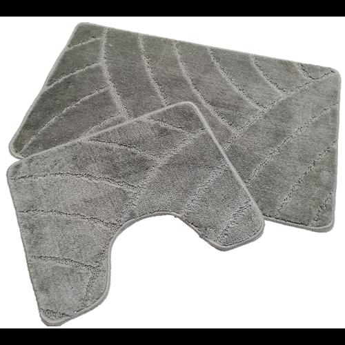 Badmat set klassiek grijs