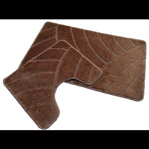 Badmat set klassiek bruin