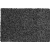 Katoenen droogloopmat op maat zwart 78cm, ecologisch