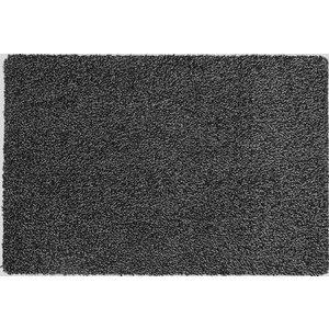 Katoenen droogloopmat op maat zwart 58cm, ecologisch