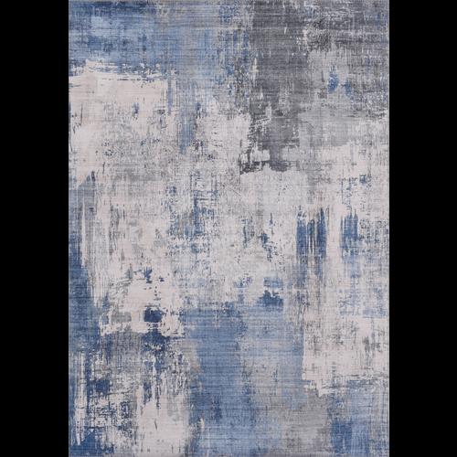 Vintage vloerkleed, bedrukt, blauw