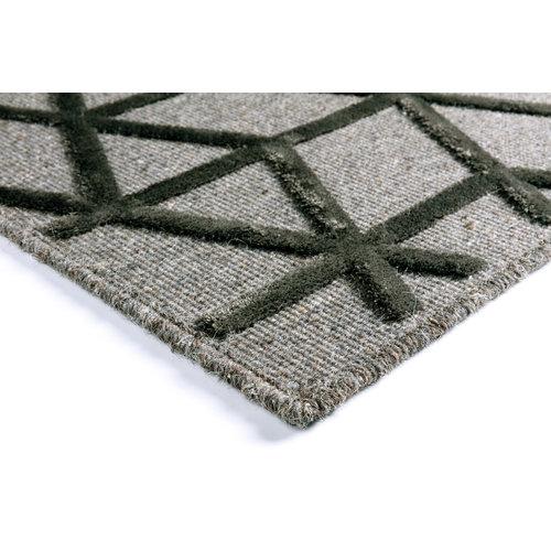 Modern vloerkleed grijs en antraciet