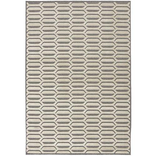 Modern vloerkleed grijs en beige