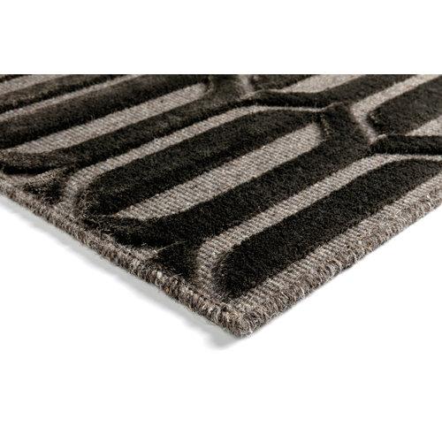 Modern vloerkleed antraciet en grijs