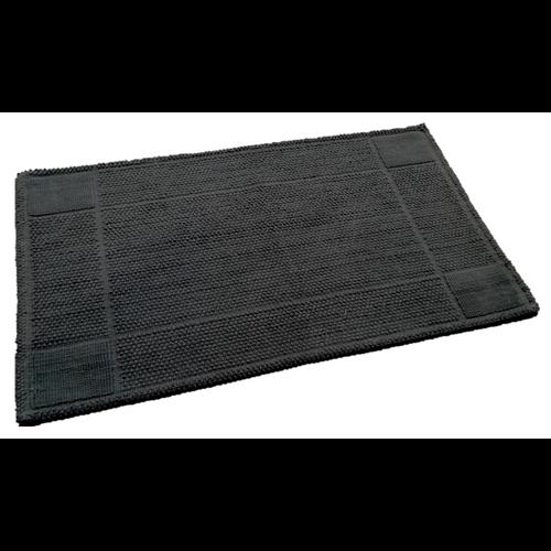 Katoenen badmat antislip, antraciet