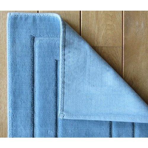 Badmat katoen blauw