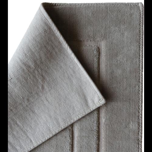 Badmat katoen grijs, antislip