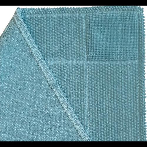 Katoenen badmat antislip, blauw