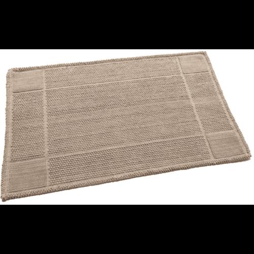 Katoenen badmat antislip, taupe