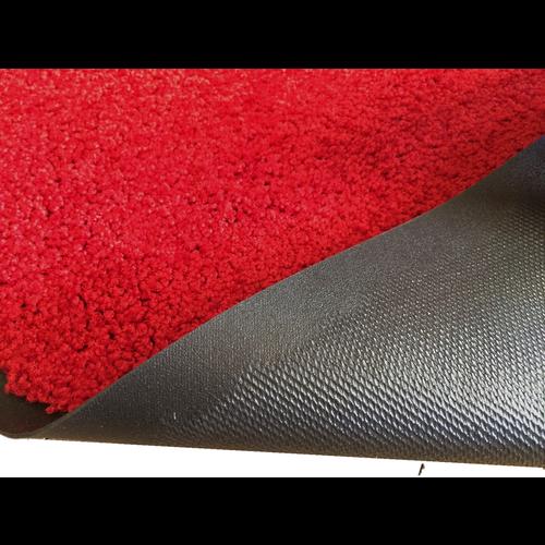 Droogloopmat op maat rood 88cm ecologisch
