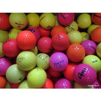 Pakket: 34 gele, 33 oranje en 33 roze AAA kwaliteit
