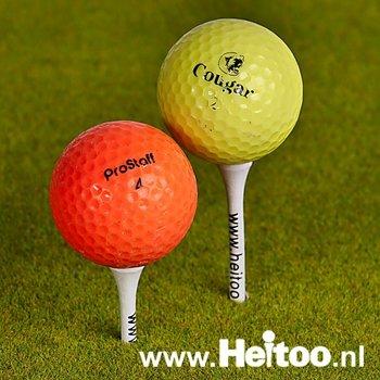 Gekleurde golfballen Gebruikte Budget A/AA kwaliteit gekleurd (trainingsgolfballen)