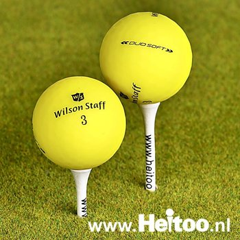 Gebruikte Wilson Staff DUO SOFT (matt geel) AAA/AAAA kwaliteit