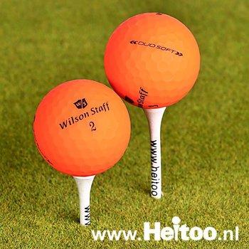 Gebruikte Wilson Staff DUO SOFT (matt oranje) AAA/AAAA kwaliteit