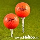 Oranje mix golfballen