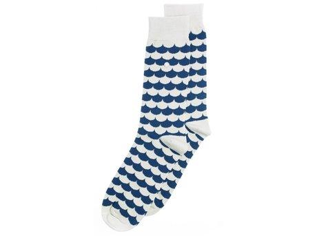 Alfredo Gonzales Swell | Luxe wit-blauwe sokken