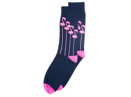 Alfredo Gonzales Flamingo | Luxe blauwe sokken