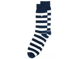 Alfredo Gonzales Alfredo Gonzales Stripes | Luxe blauw-witte sokken