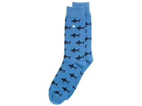 Alfredo Gonzales Shark Attack | Luxe lichtblauwe sokken