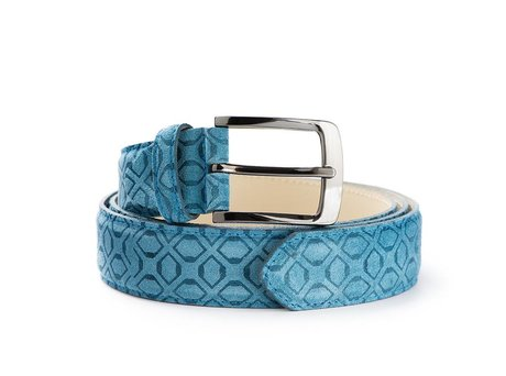 REHAB BELT ART DECO BLUE