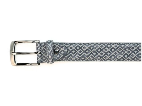 REHAB BELT CHECKER SUEDE LIGHT GREY