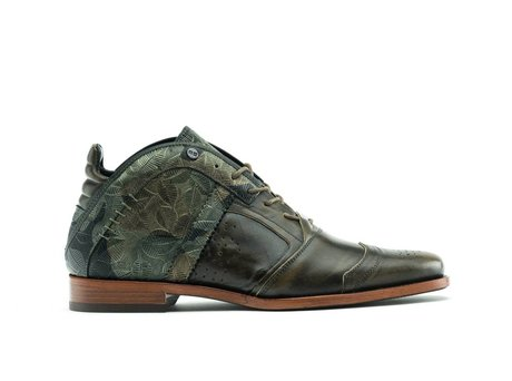 REHAB KURT II METAL FLOWER DARK GREEN
