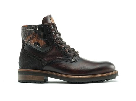 Neal Crc Army | Hoge donkerbruine boots