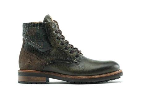Neal Crc Army | Hoge donkergroene boots