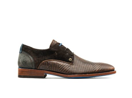 Brown Business Shoes Solo Zig Zag