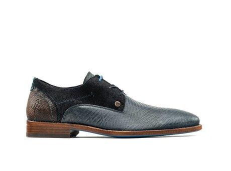 Rehab Dunkel Blaue Business Schuhe Solo Zig Zag