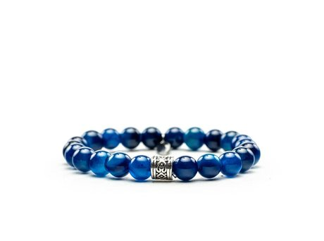 REHAB ARMBAND AGATA NATURAL DARK BLUE