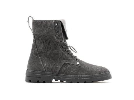 Darcey Vintage Suede | Hoge donkergrijze boots