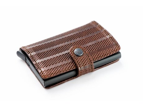 REHAB CARD WALLET STRIPES BROWN