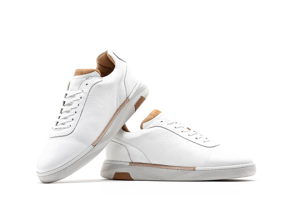 REHAB ZACK LTHR TUMBLE WHITE SNEAKERS Herren Sport Schuhe REHAB