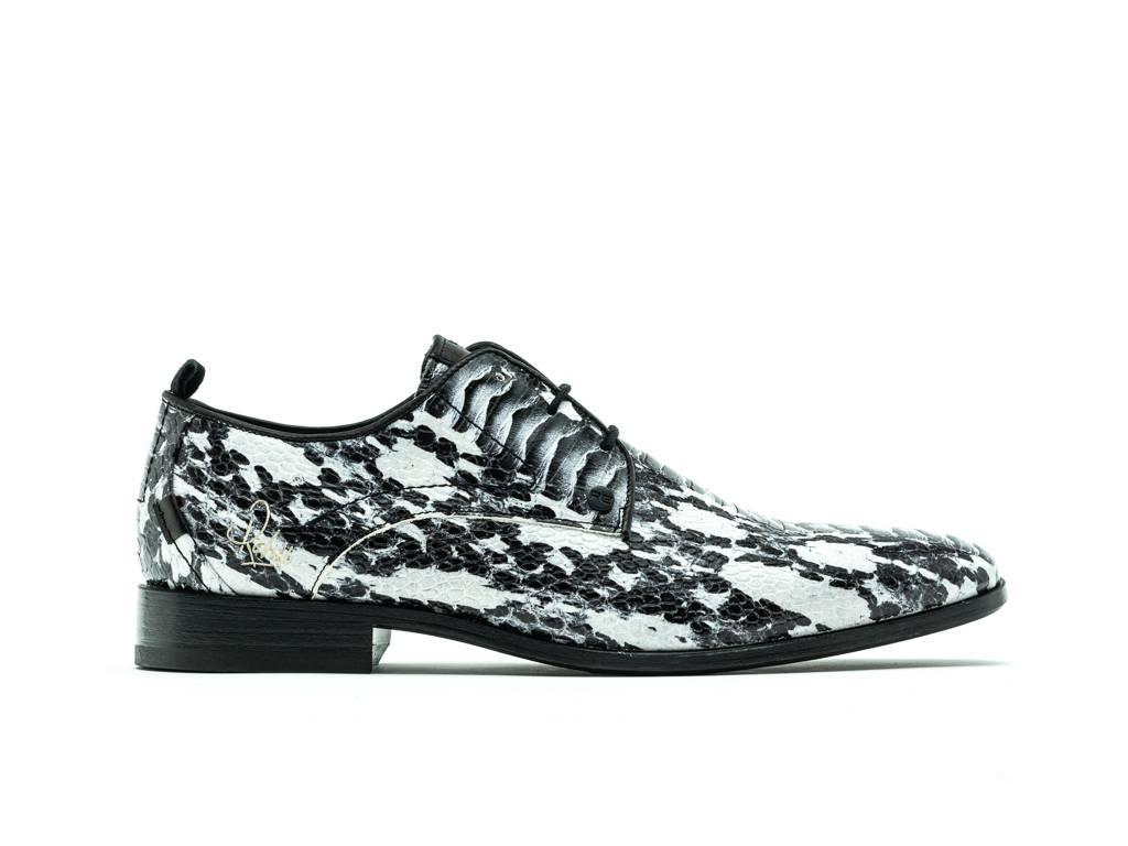 Rehab greg snake verniz white black classic shoes men rehab footwear online store official rehab footwear online store